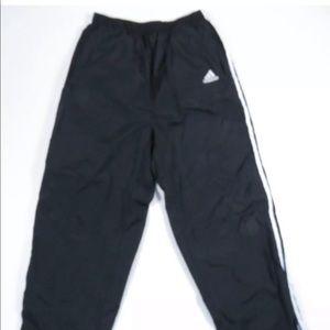 90s Adidas 3 Stripe Snap Break Tear Away Pants